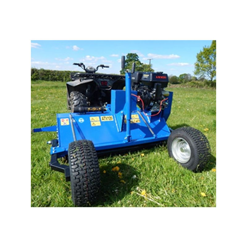 4ft ATV Flail Mower - 15hp Pull Start Tow Behind - ATV Attachments