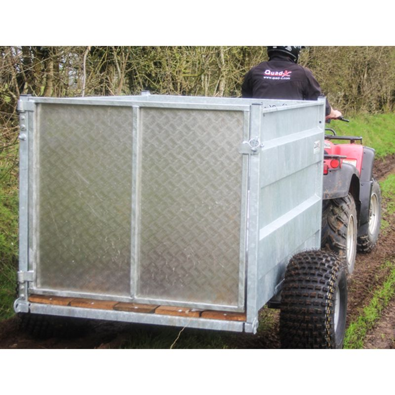 5X3'3 QUAD TRAILER: SOLID SIDES WITH SWING DOOR