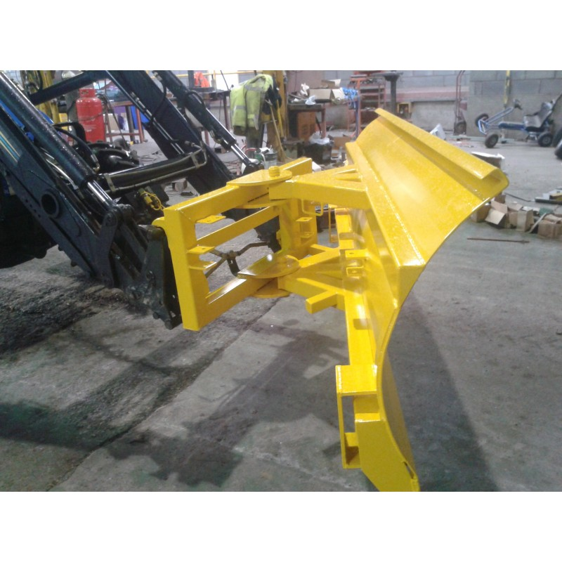 Tractor Loader Snow Plow Attachment : Tractor front loader snow plough